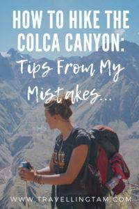 colca canyon hiking tips pinterest icon