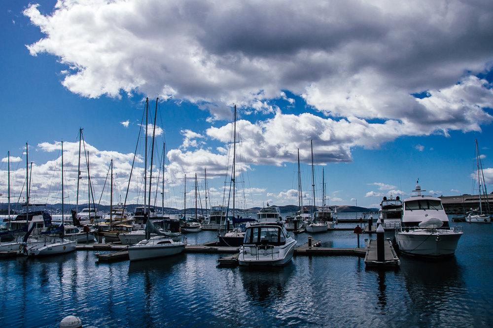 boats in hobart marina