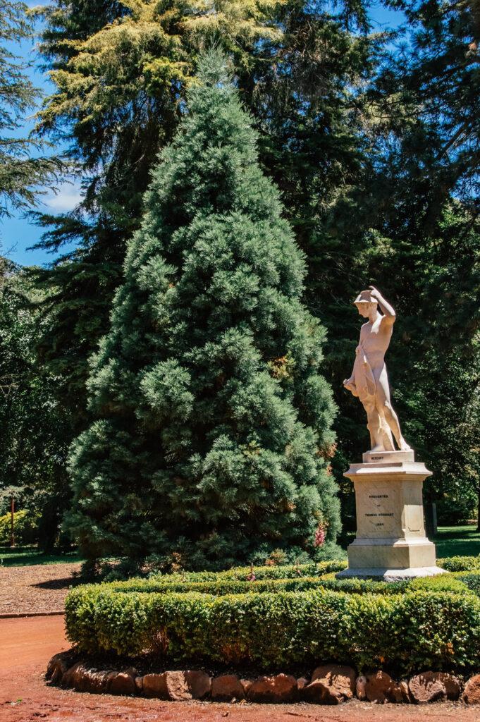 Statues in botanical gardens in Ballarat