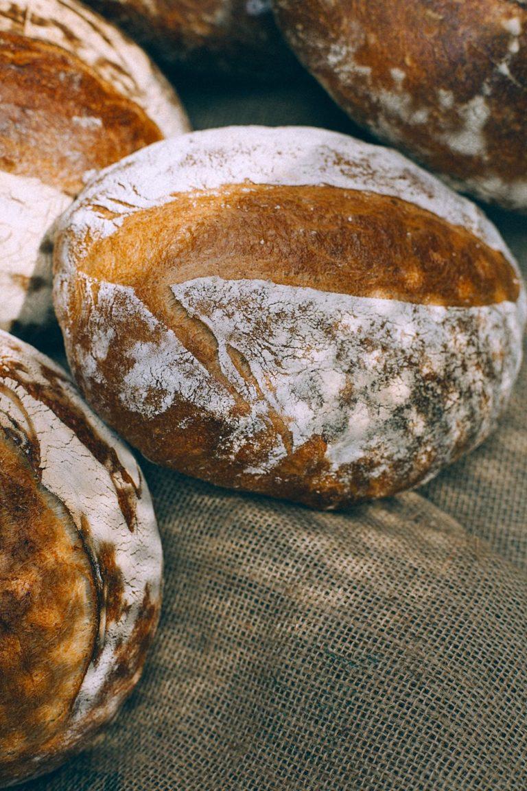 close up of bread at a market