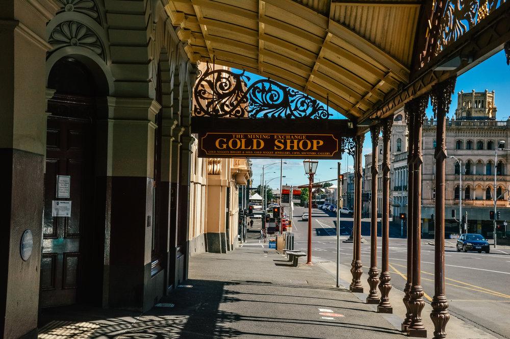 exterior of the gold shoppe in ballarat victoria