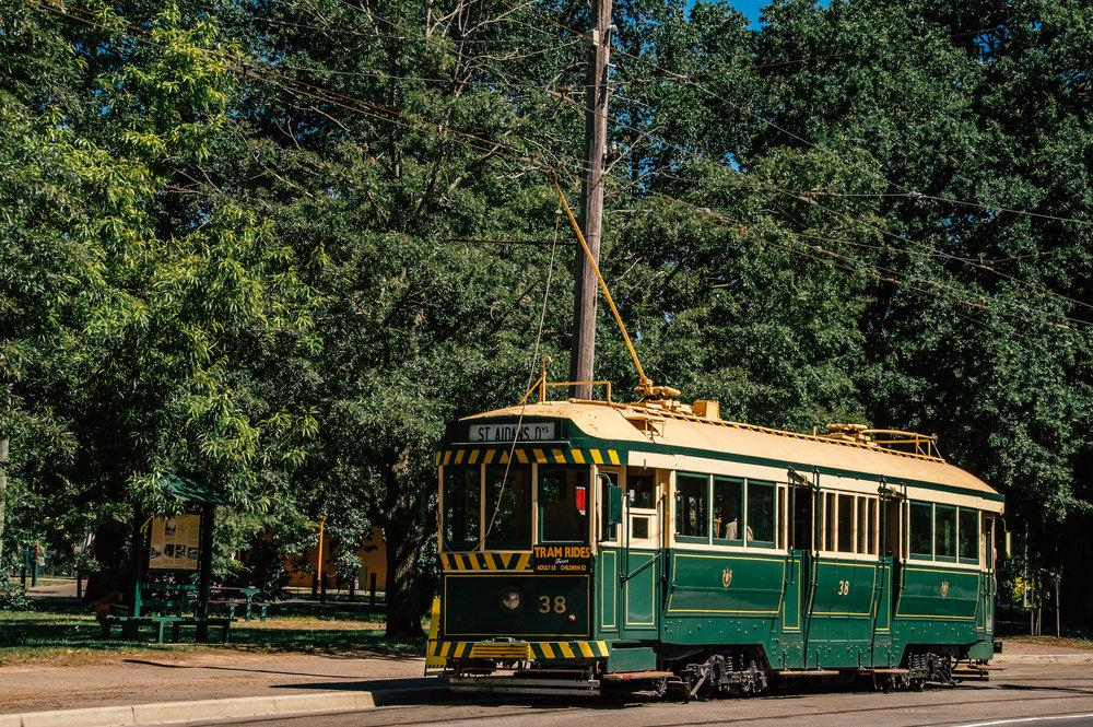 historic tourist tram in ballarat