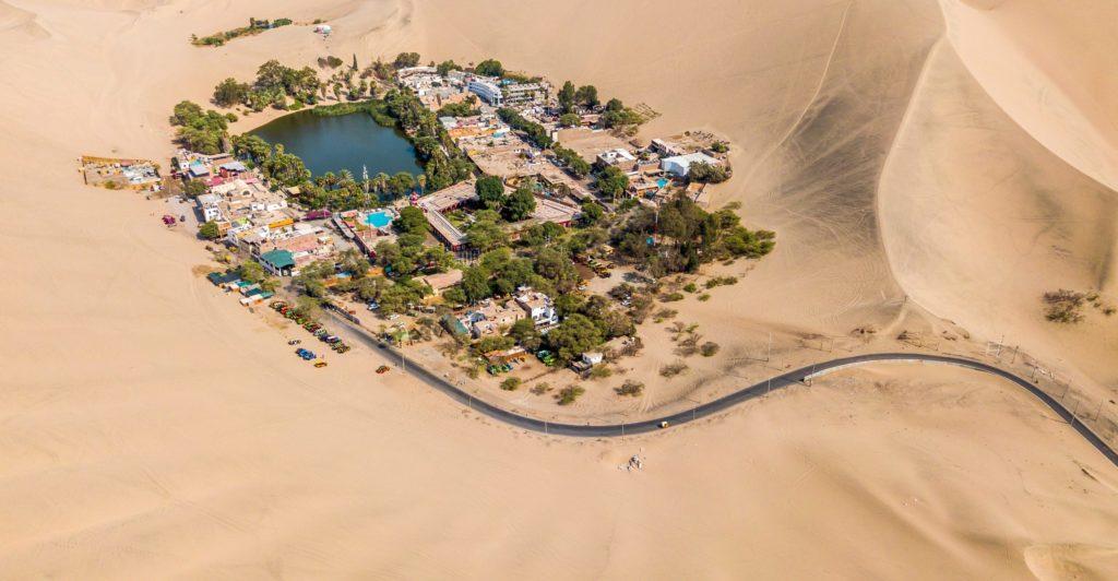 town in desert oasis