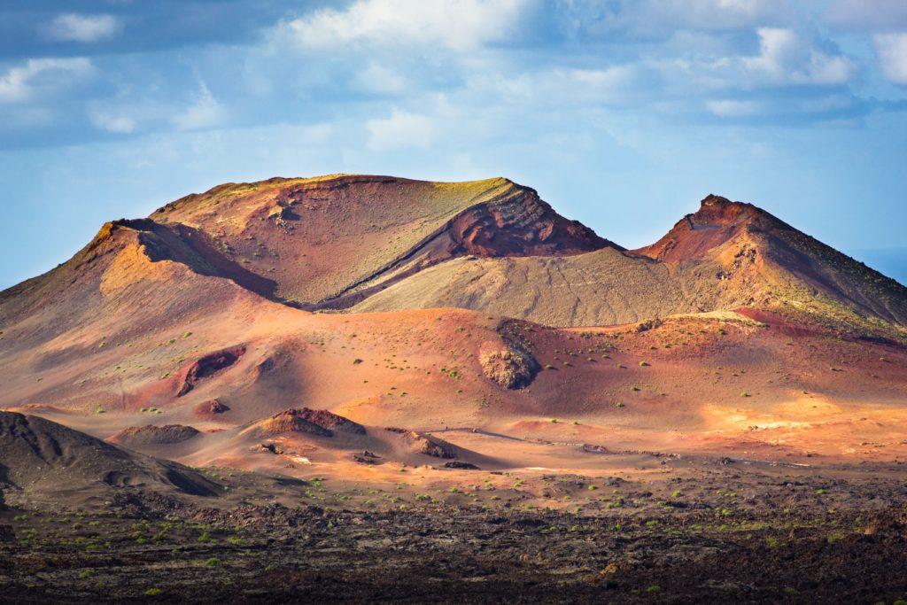 red and orange mars like landscape