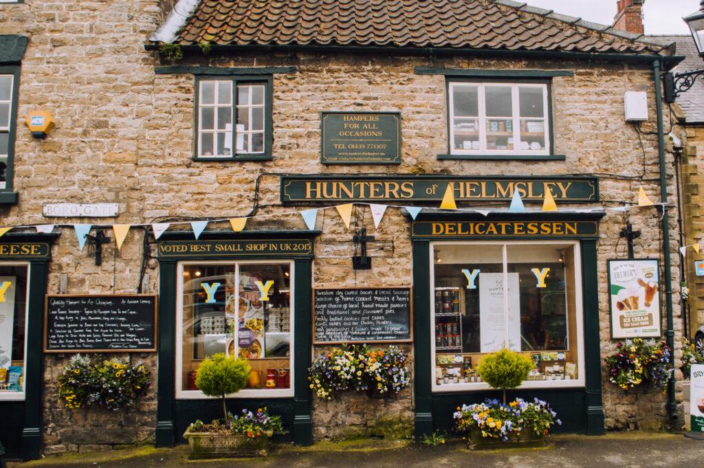 Hunters of Harrogate shopfront in Helmsley