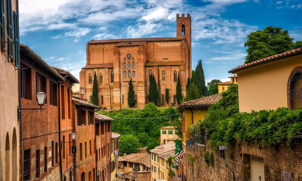 italian town in summer