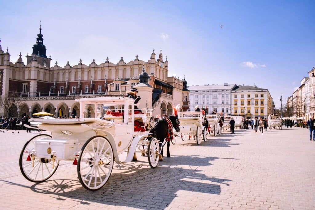 horse and cart in Krakow, Poland